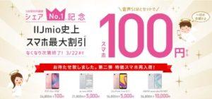 IIJmio〜シェアNo1記念キャンペーン