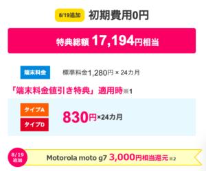 BIGLOBEモバイルのおすすめーmotog7